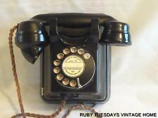 VINTAGE ART DECO BAKELITE TELEPHONE wall mounted telephone WALL PHONE stunning