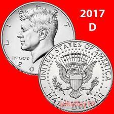(2) 2017-D KENNEDY HALF DOLLAR SINGLE COIN - UNCIRCULATED COINS US MINT