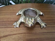 *Rare* Vintage Mid-Century Brass Frog Shaped Magnifying Glass