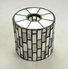 Vtg Leaded Stained Glass Art Deco Small Retro Lamp Shade Fixture Tiffany Style