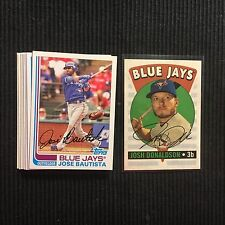 2017 TOPPS ARCHIVES TORONTO BLUE JAYS MASTER TEAM SET 9 CARDS  WITH INSERT +