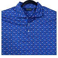 Polo Golf Ralph Lauren RLX Flowered Ivy Golf Club Polo Shirt Men's XL