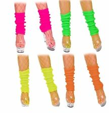 1980s Neon Leg Warmers Ladies Fancy Dress 80s Dance Adults Costume Accessory Pink