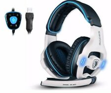 Professional Gaming Headset 7.1 Channel USB Headphones With Mic Remote Control