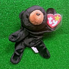 "TY Beanie Baby Blackie The Bear 1994 RETIRED w/ ALL ERRORS ""SUFACE"" ""ORIGIINAL"""