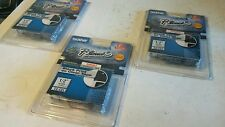 """3 Genuine Brother P-Touch TZ-131 Laminated Label Tape Black Print on Clear 1/2"""""""