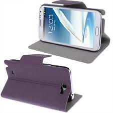 Slim Tasche Glatt Etui Case Hülle Purple für Samsung Galaxy Note II  N7100