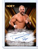 WWE Scott Dawson RA-SD 2017 Topps NXT Bronze Authentic Autograph Card SN 65 / 99