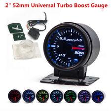 "Universal Car 2""/52mm Turbo Boost Gauge Meter Smoke Tint Lens w/ Sensor & Holder"