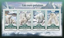 Togo 2016 MNH Polar Bears 4v M/S Polar Bear Wild Animals Stamps