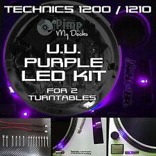 Technics 1200 1210 Completa U.v. LED púrpura Kits X 2 (Para 2 Platos)
