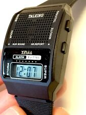 HUMAN VOICE loud clear English TALKING ALARM WATCH Rooster Crow Sound GiftBox