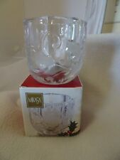 MIKASA SEASON'S HOLLY VOTIVE CANDLE HOLDER WY521/610-NEW OLD STOCK-IN ORIG. BOX