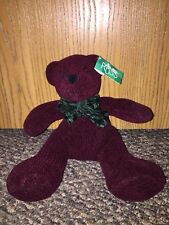 Russ Plush WINTER Bear SCARLET Deep Burgundy Red Teddy-SWEETIE PIE BEAR