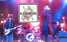 KASABIAN Signed 18x11.5 Photo Display Signed By SERGIO, TOM, JAY, CHRIS, IAN COA