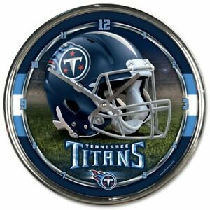 Tennesse Titans 12 Inch CHROME Clock by Wincraft - Perfect for Man Cave,Office