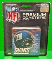 Rico NFL Football NY Giants New York Helmet style Premium Coasters 10 Pack  NEW