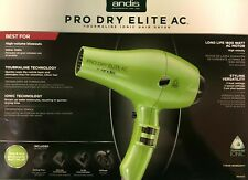 ANDIS PRO DRY ELITE AC,TOURMALINE IONIC HAIR DRYER, LIME GREEN