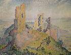 Landscape With A Ruined Castle Paul Signac Painting Print Canvas Home Decor 8x10