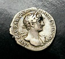 Hadrian. Superb Denarius. Father of Antonius Pius. Ancient Roman Silver Coin.