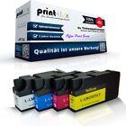 4x Sostituzione Cartucce di inchiostro per Lexmark OfficeEdge-Pro-5500-Se