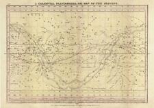 1835 Burritt / Huntington Map of the Celestial Planisphere