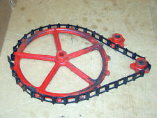 Industrial Cast Iron Cog Gears n Chain Steampunk Machine Age Lamp Sprocket Decor