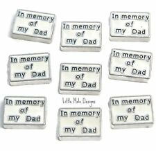 In Memory Of My Dad Floating Charm for Living Memory Locket Memorial Charms