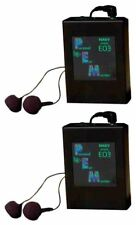 2 Nady EO3 RX AA In-Ear Monitor Wireless Receiver 4 EO3 Wireless Monitor System