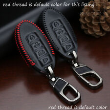 Genuine Leather Car Key Case For Nissan Infiniti 4 Buttons Key FOB Holder Cover