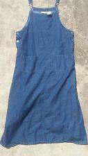 WHITE STAG BLUE DENIM JEANS OVERALLS JUMPSUIT ROMPER WOMENS SIZE MEDIUM M Dress