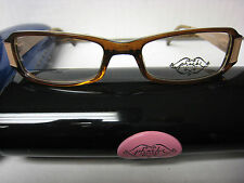 a22ac2872a2 Phoebe Couture Eyeglass Frames P226 BROWN 49-17-125 With Case New