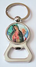 Our Lady of Guadalupe Key Chain, Virgin Mary Key Ring, Religious Catholic Art