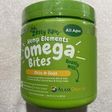Zesty Paws Hemp Elements Omega Bites For Skin & Coat W/ AlaskOmega 90 Soft Chews