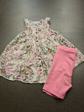girls 2-3 years outfit floral blouse t-shirt tunic Leggings shorts bundle next d