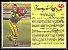 1963 POST CFL FOOTBALL 135 TOMMY JOE COFFEY EX-NM EDMONTON ESKIMOS WEST TEXAS ST