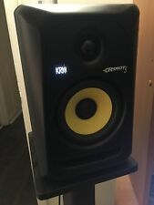 KRK ROCKIT 5s  W/STANDS AND AUDIO INTERFACE