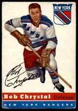 1954-55 TOPPS BOB CHRYSTAL ROOKIE NEW YORK RANGERS #2