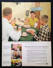 1956 Bell Telephone System family eating breakfast phone 50's vintage print ad
