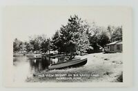 Postcard Real Photo Isle View Resort Big Sandy Lake Mcgregor Minnesota 1954