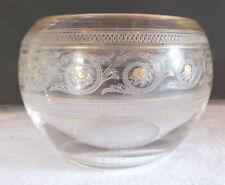 bonbonnière vide poche verre gravé filet doré époque 1900 candy box