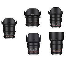 Samyang 5 Piece VDSLRⅡ Cine Lens Kit for Canon - 135.85.35.14.8mm -Warranty