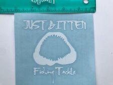 Just Bitten Fishing Tackle - Shark Jaws - Window Sticker Decal - White