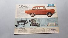DKW Junior auto depliant italiano originale brochure
