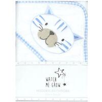 Baby Boys Tiger Hooded Towel Blue White Bath Robe Shower Wrap Newborn