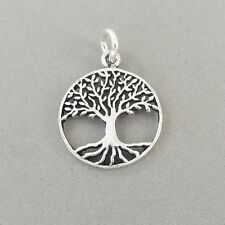.925 Sterling Silver OPEN TREE OF LIFE Charm NEW Cut Out Pendant Roots 925 GA100