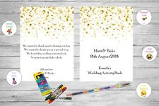 Personalised Childrens Kids Wedding Activity Pack Book Confetti Ab68
