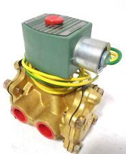 """1/2"""" Asco HC8316G64V 3-way Solenoid Valve. Air/Inert Gas/H2O 10-125 psi 125VDC"""