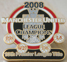 MANCHESTER UNITED Victory Pins 2008 PREMIER LEAGUE CHAMPIONS Badge Danbury Mint