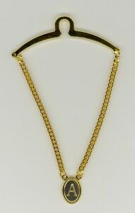 Gold-Plated Initial Tie Chain ~ A ~ Initial 'A' ~ Cable Tie Chain ~ Fathers Day